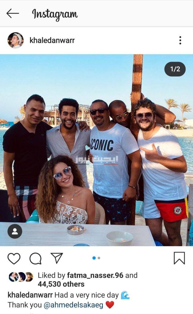 خالد أنور برفقة نجوم من الوسط الفني