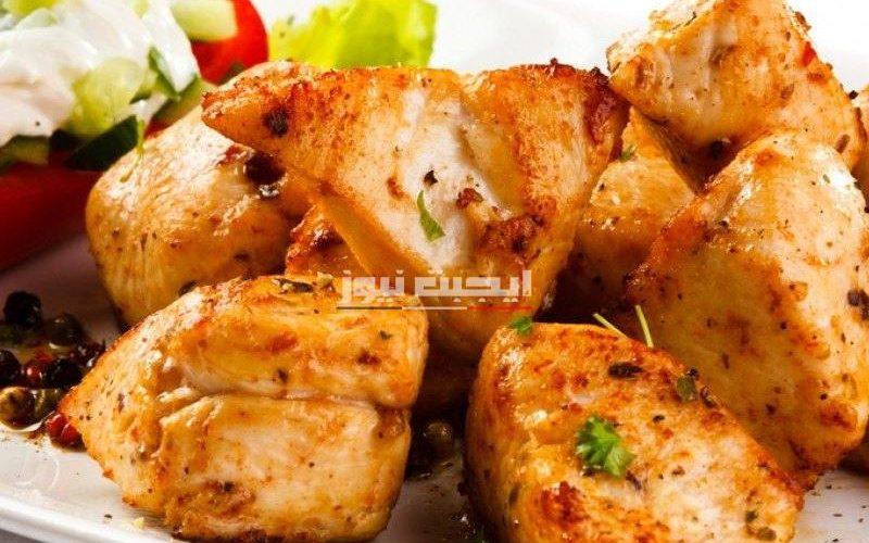 طريقة تحضير دجاج الشيش طاووق في الطاسة