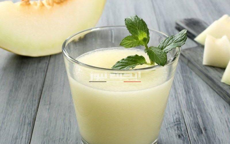طريقة عمل عصير الشمام البارد في المنزل
