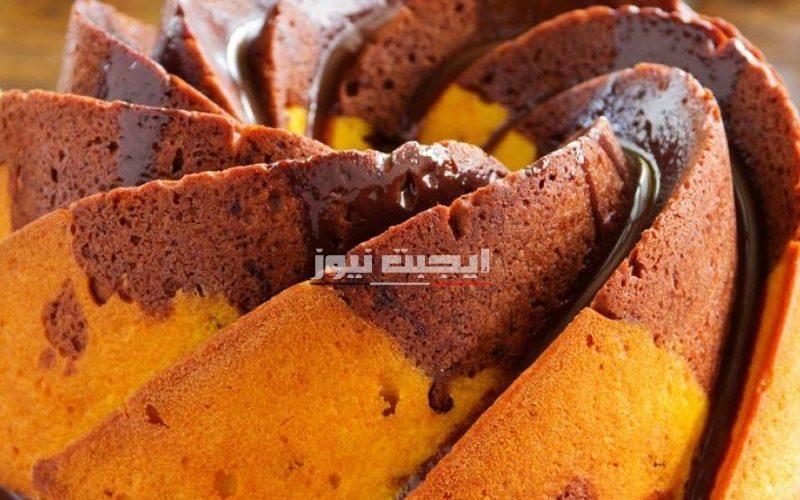 طريقة عمل كيك الماربل بالبرتقال