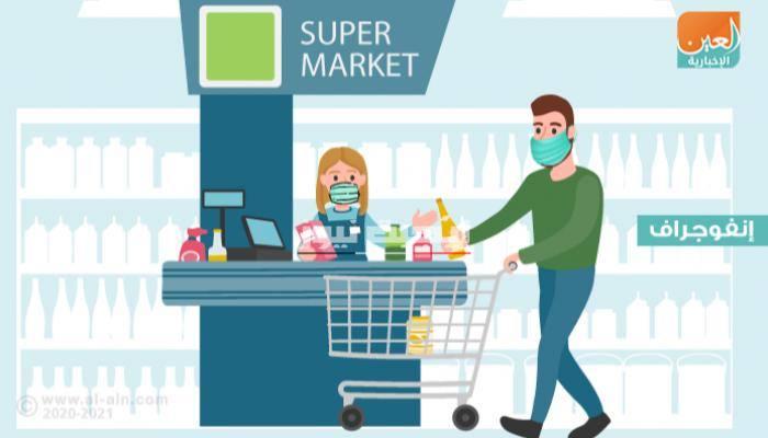 نصائح للوقاية من فيروس كورونا أثناء التسوق