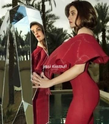 بفستان الأحمر هيدي كرم تخطف الانظار علي السويشال ميديا