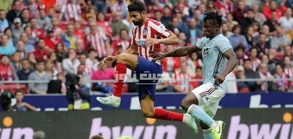 نتيجة مباراة اتلتيكو مدريد وسيلتا فيجو الدوري الاسباني 7-7-2020
