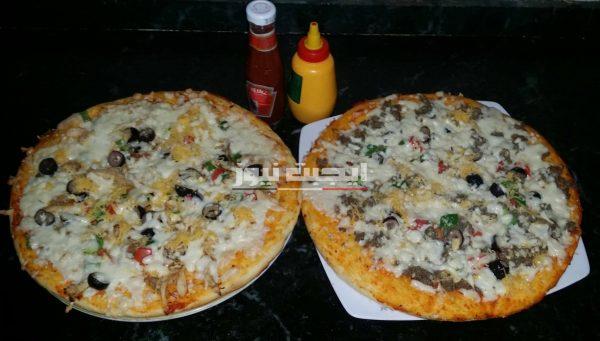 طريقة عمل البيتزا في خطوتين للمبتدئين