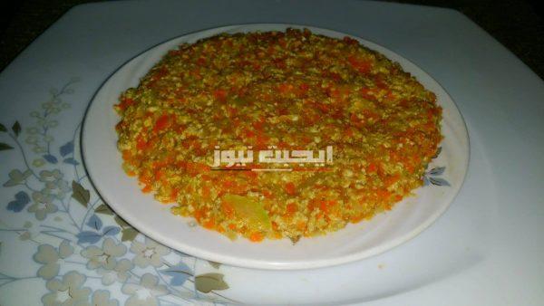 طريقة عمل وجبة الاومليت بالخضار