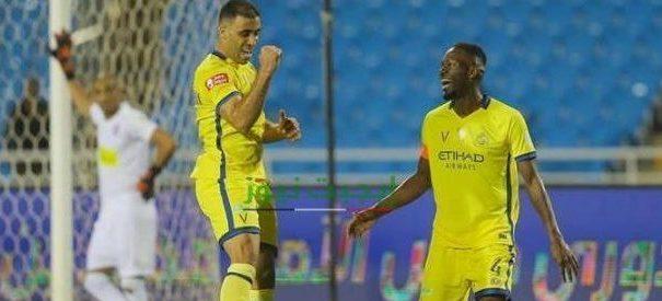 نتيجة مباراة النصر والعدالة الدوري السعودي 25-8-2020