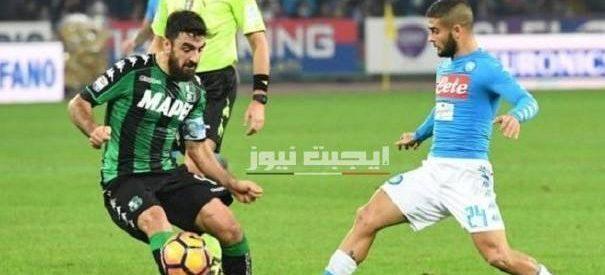 نتيجة مباراة نابولي وساسولو الدورى الايطالي 25-7-2020