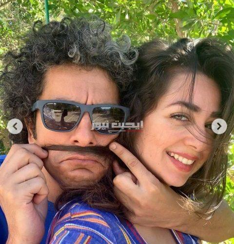 هبة مجدي تحتفل بعيد زوجها الرابع علي الحلوة ومرة
