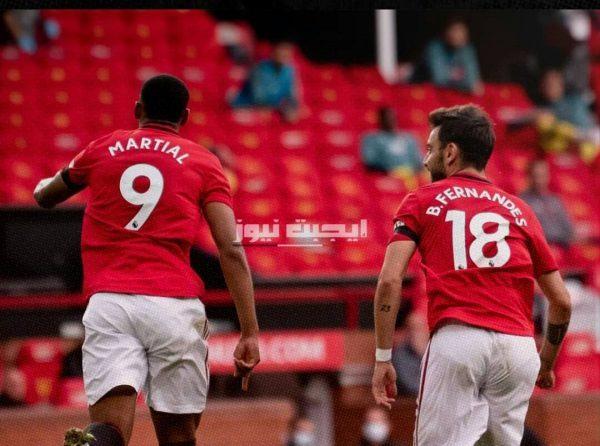 نتيجة مباراة مانشستر يونايتد وساوثهامبتون في الدوري الإنجليزي