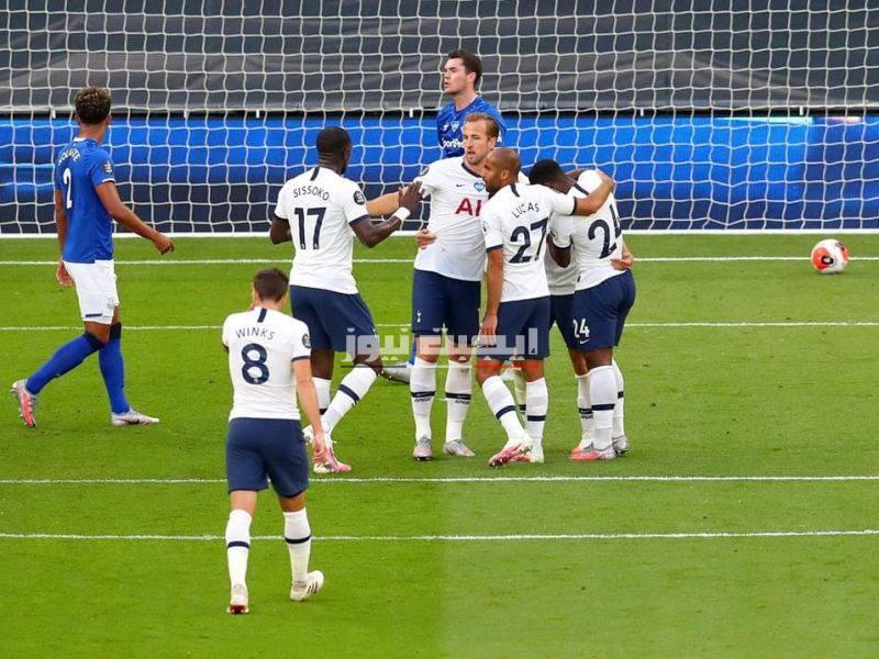 نتيجة مباراة توتنهام وإيفرتون في الدوري الإنجليزي