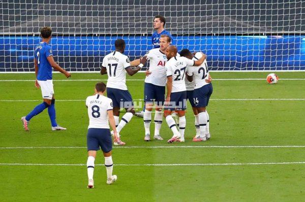 نتيجة الشوط الأول مباراة توتنهام وإيفرتون في الدوري الإنجليزي