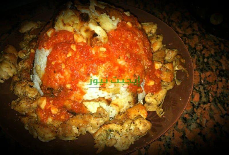 طريقة عمل فتة الأرز بالدجاج في خطوتين للمبتدئين