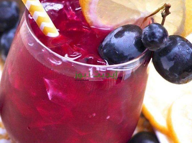 طريقة عمل عصير العنب الأحمر بالليمون في خطوة واحدة للمبتدئين