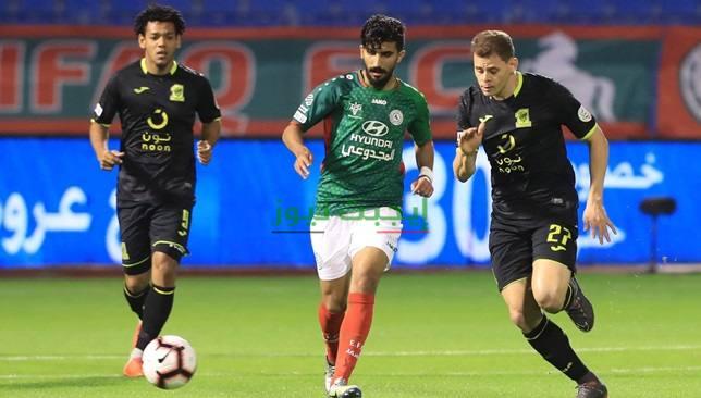 نتيجة مباراة الاتحاد والاتفاق اليوم الاحد 18-10-2020 الدوري السعودي