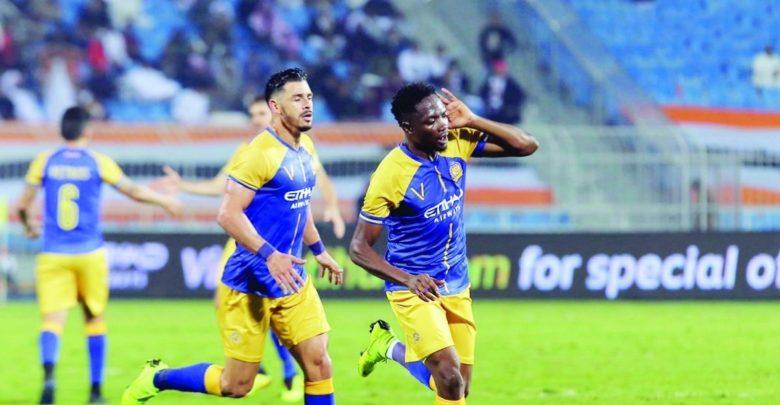 نتيجة مباراة النصر والفيحاء الدوري السعودي 29-8-2020