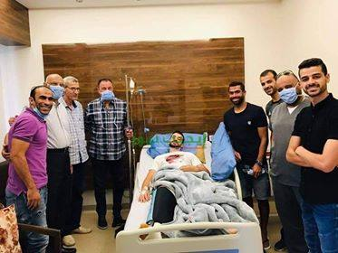 رئيس الأهلي يساند محمود متولى بعد إجرائه عملية الرباط الصليبي