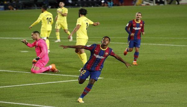 نتيجة الشوط الأول مباراة برشلونة وفياريال الدوري الإسباني
