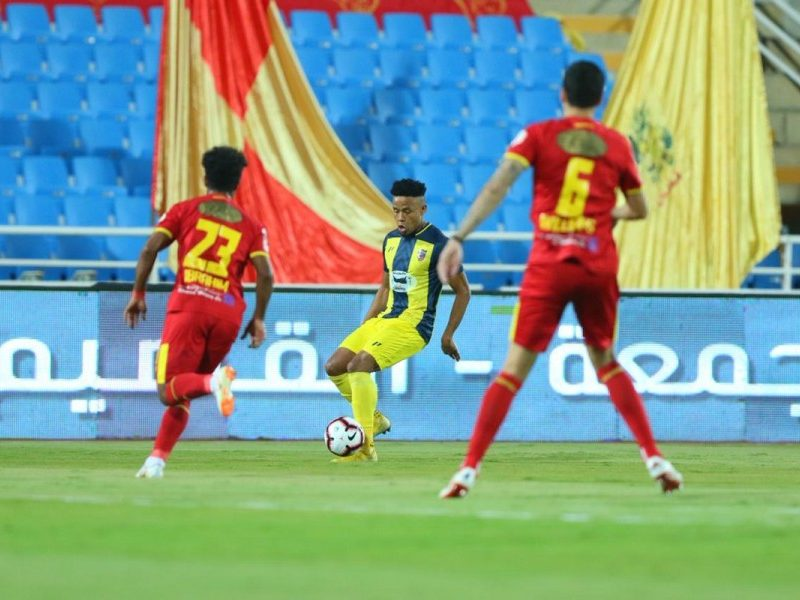 نتيجة الشوط الأول مباراة الحزم والوحدة الدوري السعودي - موقع بي بي كورة
