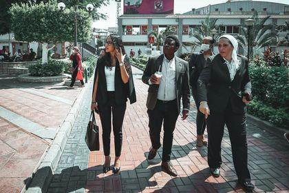 وفد سيمبا التنزاني يعلق على زيارته للنادي الأهلي
