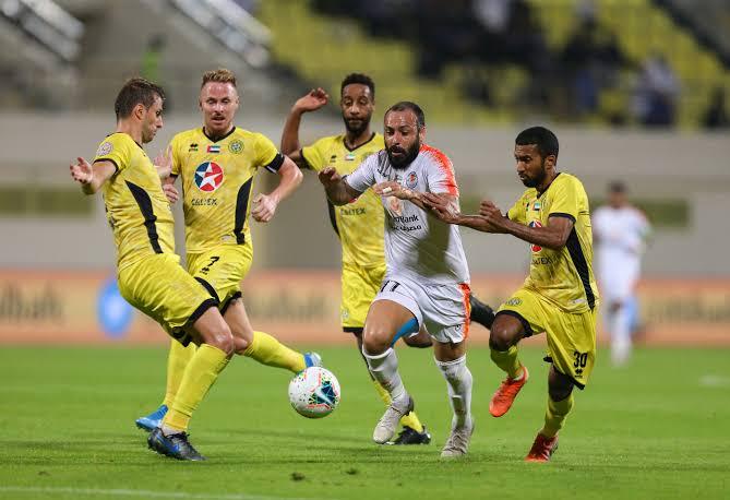 نتيجة مباراة اتحاد كلباء وعجمان دوري الخليج العربي الاماراتي