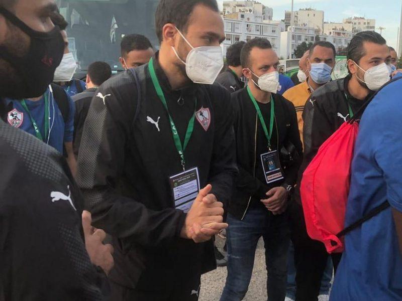 وصول حافلة الزمالك إلى ملعب محمد الخامس استعدادًا لمواجهة الرجاء
