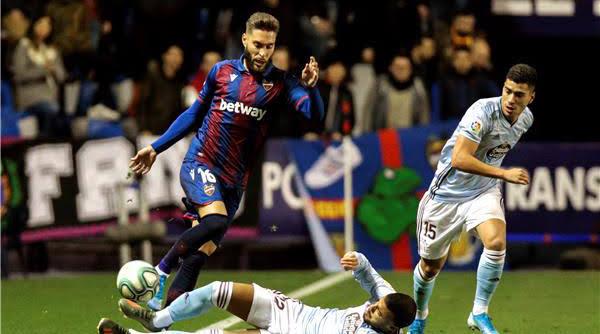 نتيجة مباراة ليفانتي وسيلتا فيغو اليوم الأثنين 26-10-2020 الدوري الإسباني