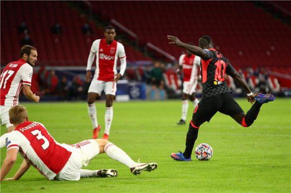 نتيجة الشوط الأول مباراة ليفربول وأياكس دوري أبطال أوروبا
