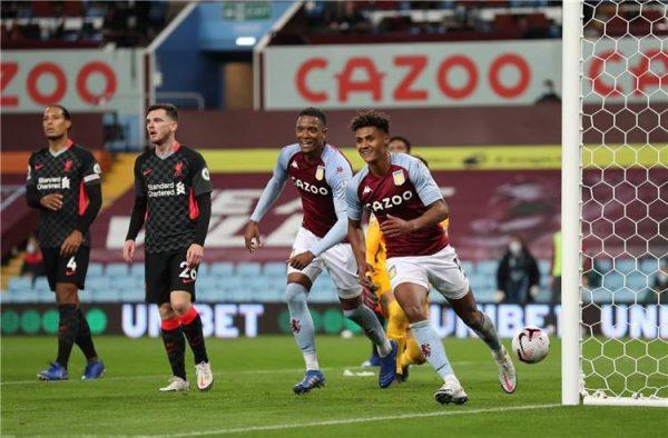 أستون فيلا يكتسح ليفربول في مباراة إنهيار زملاء صلاح