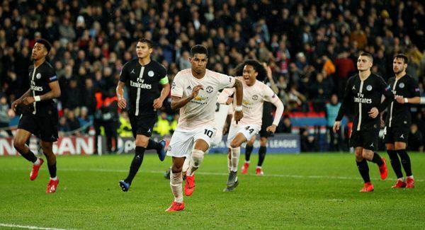 التشكيلة الرسمية لموقعة باريس سان جيرمان ومانشستر يونايتد بدوري الأبطال
