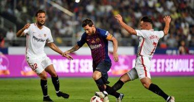 ميسي يقود تشكيلة برشلونة أمام إشبيلية في الدوري الإسباني