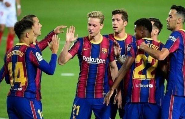نتيجة مباراة برشلونة وفرينكفاروزي اليوم 2-12-2020 دوري أبطال أوروبا