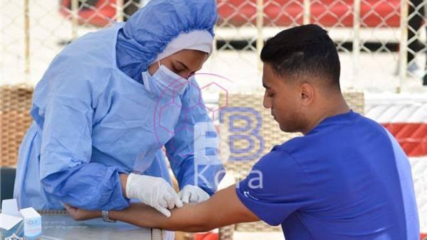مسحة طبية للاعبي الزمالك استعدادًا لمواجهة الترجي التونسي
