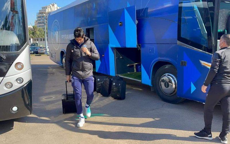 بالصور بيراميدز يصل استاد الإسكندرية استعدادا لمواجهة نادي سموحة في الدوري العام
