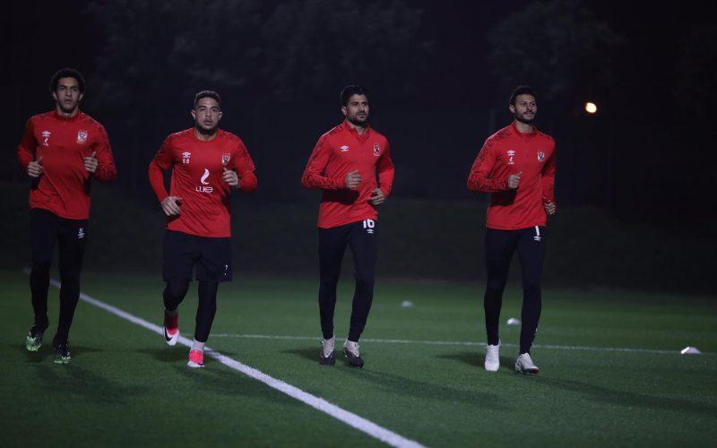 تدريبات قوية لرباعي حراسة مرمى النادي الأهلي في قطر