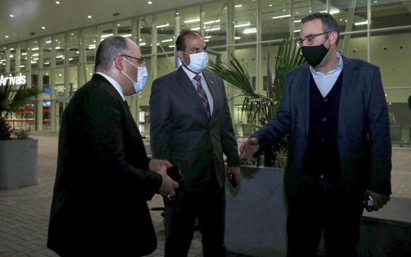 سفير مصر يستقبل بعثة الأهلي