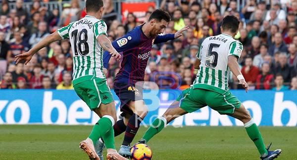 نتيجة مباراة برشلونة وريال بيتيس الدوري الاسباني