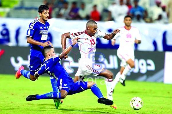 نتيجة مباراة النصر والشارقة اليوم في دوري الخليج العربي