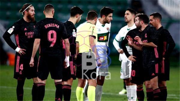 نتيجة مباراة ريال مدريد وإلتشي في الدوري الإسباني