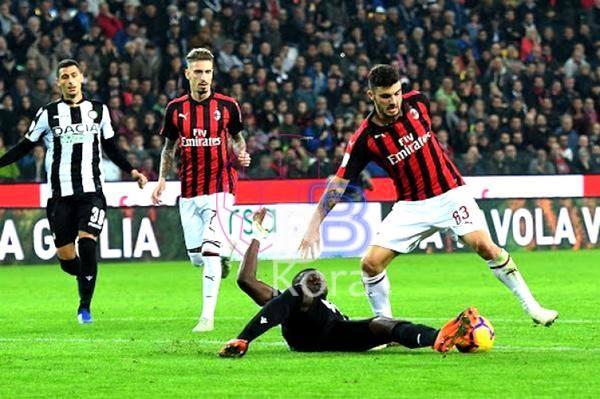 نتيجة مباراة ميلان وأودينيزي اليوم في الدوري الإيطالي