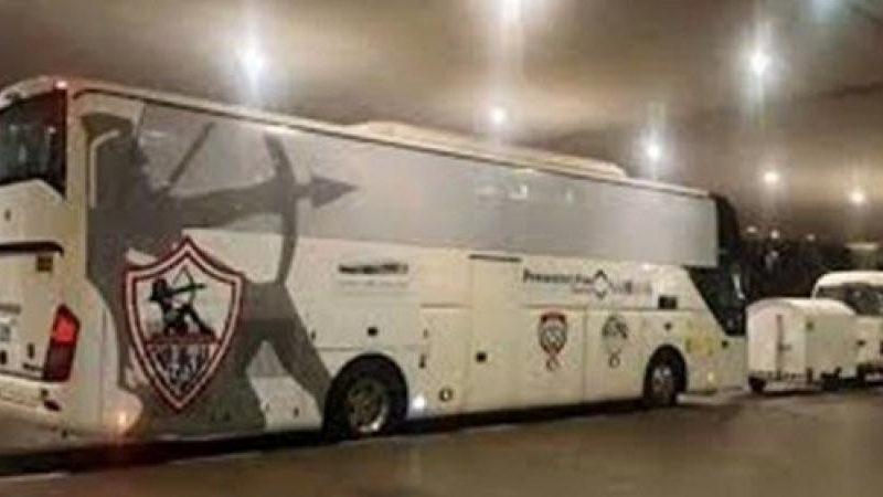 حافلة الزمالك تصل إلى ستاد السويس