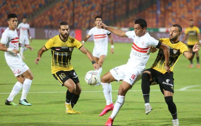 ملخص ونتيجة مباراة الزمالك والانتاج الحربي الدوري المصري
